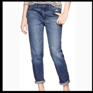 Gap Sexy Bf Distressed Med washed Denim Jeans